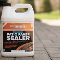 """Patio Paver Sealer is an acrylic, water-based sealer designed to protect patio pavers from color loss, and damage caused by water penetration. It gives your pavers a beautiful satin-sheen, """"wet look""""."""